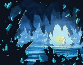 Crystal Cave A5 Print