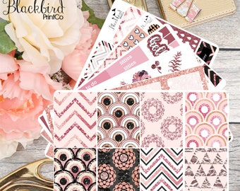 Rose Gold Glam | Planner Sticker Kit for Erin Condren Vertical