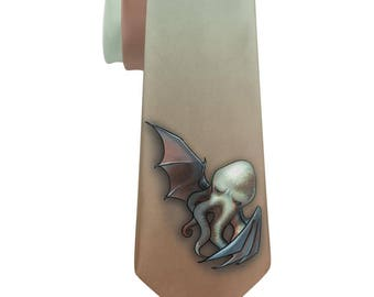 Halloween Cthulhu Horror All Over Neck Tie