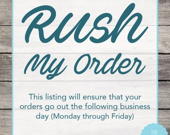 Rush My Wine Glass Order