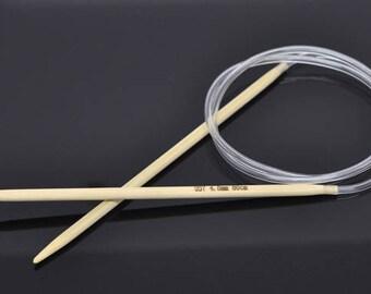 80cm circular knitting needles made of bamboo 3.75