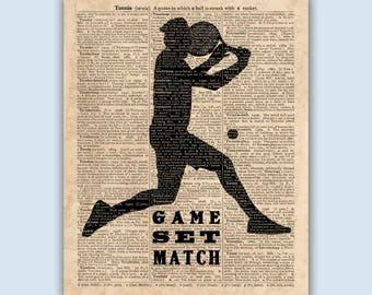 Tennis Print, Tennis Wall Art, Tennis Wall Decor, Tennis Party, Tennis Player Gift, Tennis Poster, Tennis Center Decor, Tennis Gifts