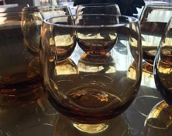Set of 6 glasses Murano By Murrina signed