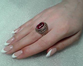 Vintage Silver Ring 875 USSR. Gilding.