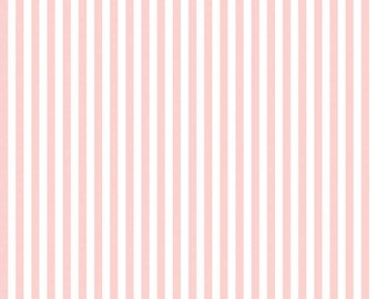 Riley Blake Quarter Inch Stripe, White and Baby Pink, fabric by the yard