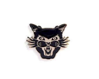 Black cat appreciation society  - Enamel pin