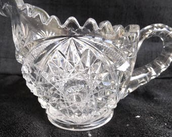 Mckee Glass Company Martec Creamer Looking for his Sugar Mint EAPG 1905