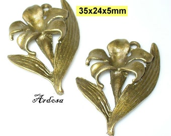 2 trailer flower, blossom, Lily bronze 35mm (169.35)