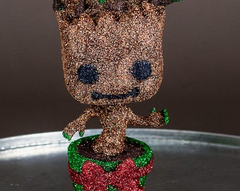 Glittered Dancing baby Groot {Holiday Edition}