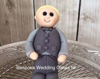 Boy cake topper confirmation communion