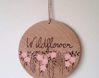 Wildflower wooden plaque