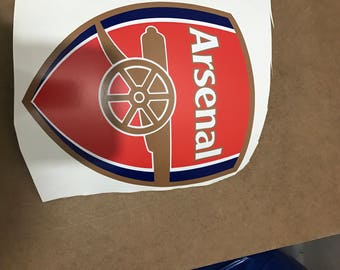 Arsenal  white static car sticker