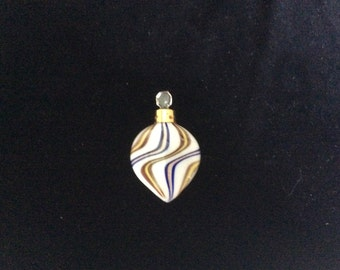 SALE!  Art Deco Perfume Vial, Flacon Mercury Glass Swirl, Marked Germany