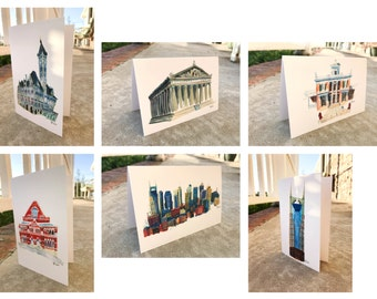 Bundle of 6 Greeting Cards | Nashville, Tennessee