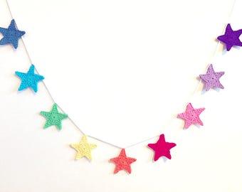 Rainbow Star Garland