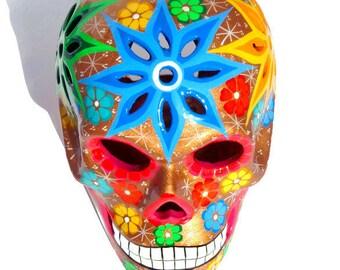 Sugar Skull, Sugar Skulls Gift, Skull Décor, Mexican Skull Day of the Dead Skull, Day of the Dead Art, CERAMIC Skull, UK Seller Only UK Shop