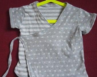 Handmade Foldover Vest Jacket 1-2 Year Stars