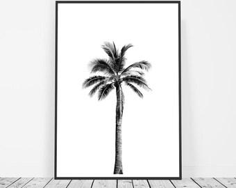 Palm Print, Palm Tree Print, Tropical Print, Beach Decor, Palm Wall Art, Palm Tree Art, Black and White, Palm Tree Wall Print