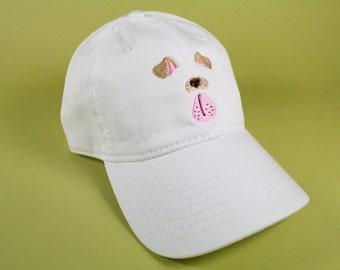 NEW Dog Face Selfie Filter Baseball Hat Dad Hat Low Profile White Pink Black Casquette Embroidered Unisex Adjustable Strap Back Baseball Cap