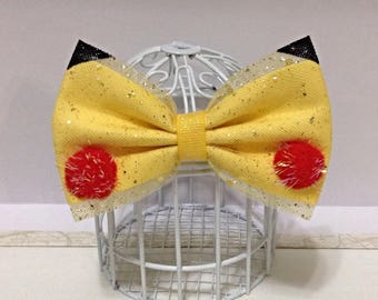 Pokemon Pikachu inspired cosplay hair bow
