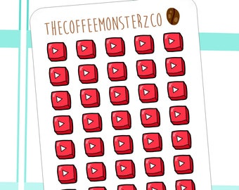 Youtube Play Button Stickers