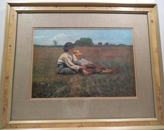 "Winslow Homer - ""Boys In A Pasture"" - 1874 - Framed Print"