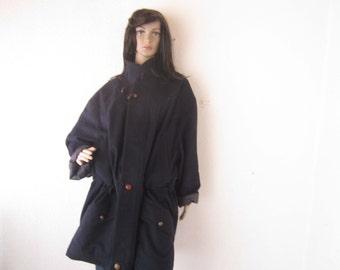Vintage 80s Duffle coat jacket Lodenfrey Loden jacket oversize unisex jacket