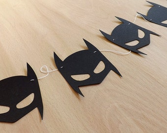 Batman Mask Paper Garland/Bunting | Kids Party Decoration