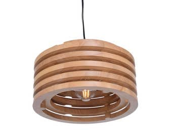 Solid Oak Wood Pendant Lights-Decorative Wooden Lighting Fixtures