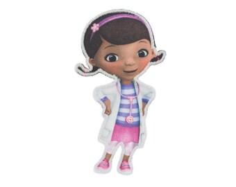 DISNEY Junior Iron On Applique Doc McStuffin 2 x 3.5 inches - Disney Junior Patch - Kids Iron On Patch - Embroidered Patch (299720)