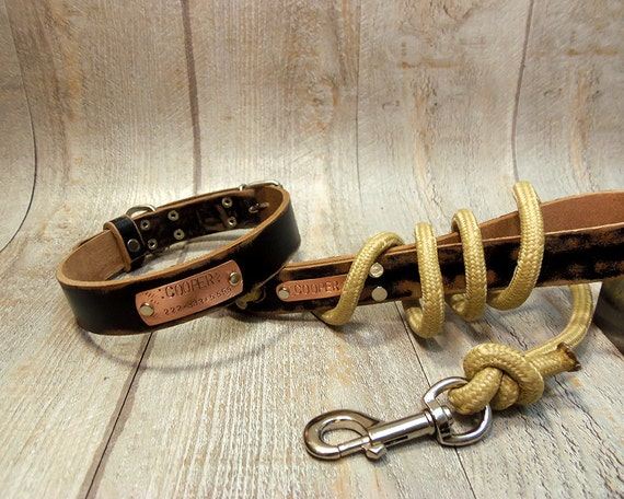 Leather Dog Collars Leashes