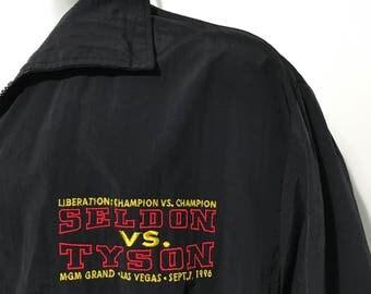 Vintage 1996 Seldon vs Tyson MGM Grand Las Vegas Jacket