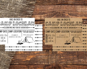 CAMP | Camp Out Invitation | Camp Out | Camp Out Theme Birthday | Camp Out Theme Birthday Invitation | Camp Out Birthday Invitation | Camp