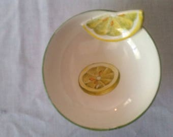 Italian pottery lemon bowl