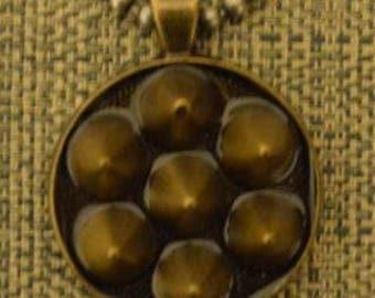 Spiky 3-D Pendant Necklace