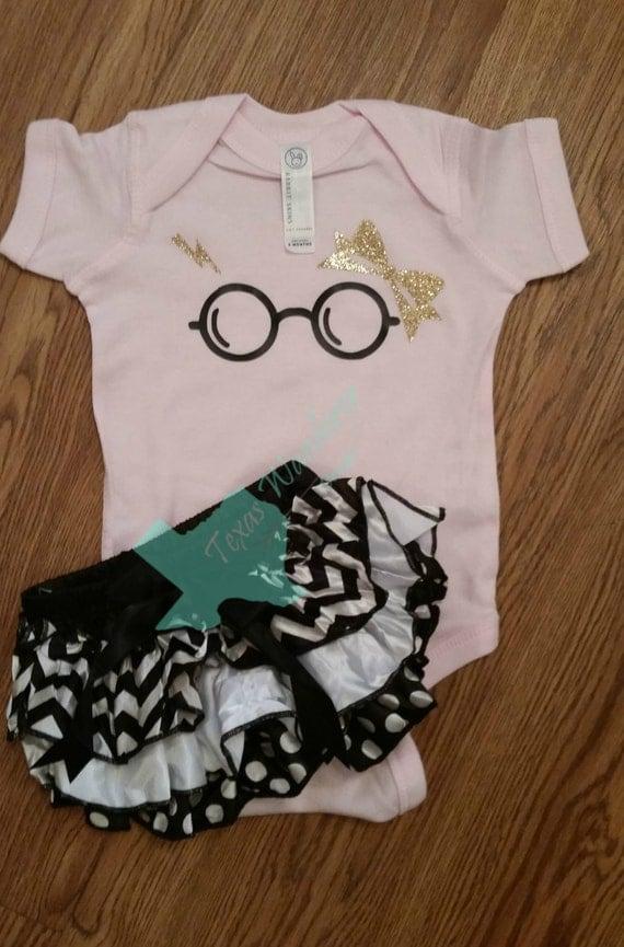 Bow girls Harry Potter BodySuit Onesie Harry Potter Baby