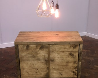 Stokkr - Handmade Industrial Chic Reclaimed Solid Wood TV console, Cabinet, Cupboard. Custom Made To Order.