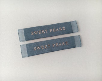 1000 Clothing woven label, Personalized garment label, Garment tag, Custom label