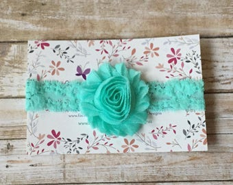 Aqua Blue Baby Headband/Aqua Headband/Baby Headband/Newborn Headband/Baby Girl Headbands/Baby Girls/Baby Bows/Girl Headband/Toddler Headband