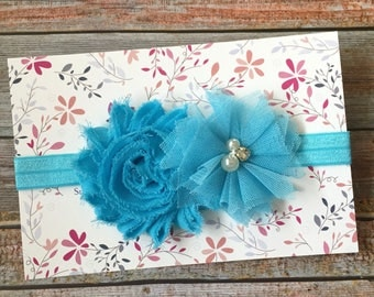 Baby Headband/Turquoise Blue Headband/Newborn Headband/Baby Girl Headband/Blue/Baby Headbands/Headband/Infant Headband/Blue Baby Headband