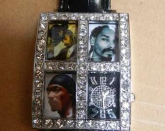 Snoop Dogg watch stainless steel hip-hop wrist watch Death Row Los Angeles 2pac Dre NWA hustle gangsta OG