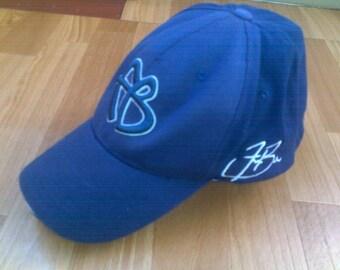 FUBU snapback, vintage hip hop cap, blue 90s hip hop clothing, 1990s gangsta rap jersey, OG