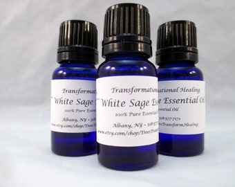 100% Pure White Sage Essential Oil - 10 ML - Dees Transformational Healing