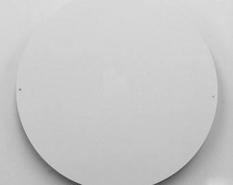 "11.75"" Dia White Aluminum Circle Metal Sign Blanks - With Holes"