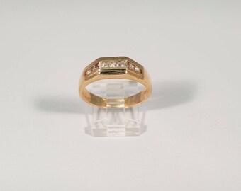 14K Yellow Gold Mens 3/4 ct. tw. Diamond Band, Size 12.5