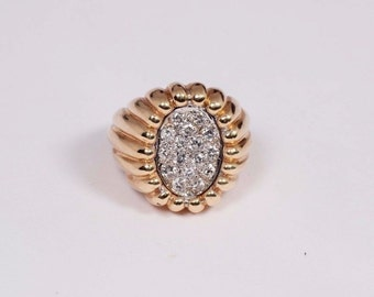 14K Yellow Gold Mens Diamond 1ct. tw. Ring, Size 8