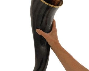 "AleHorn 20"" Polished Viking Drinking Horn"