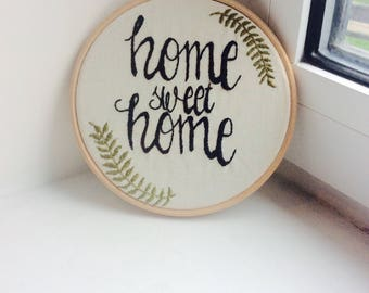 Home sweet home nature embroidery