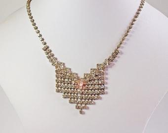 Vintage, Diamante Diamante Necklace, (2168)