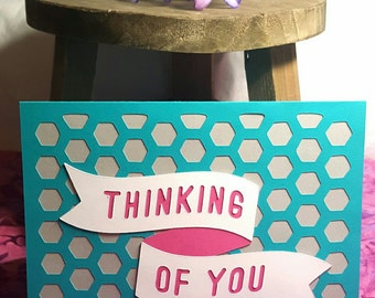 Thinking of You Blank Greeting Card